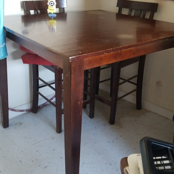 Other High Top4 Chair Cherry Wood Table And More Poshmark